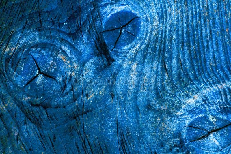 Fondo de madera natural simple de la textura del tablón de la pared en color azul con el modelo de madera natural de la superfici fotografía de archivo libre de regalías