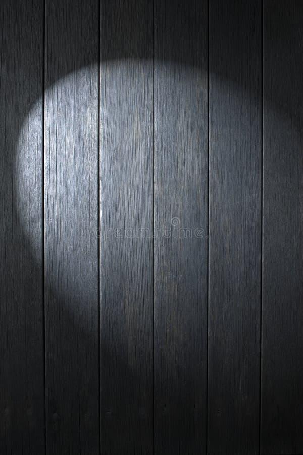 Fondo de madera negro del proyector foto de archivo