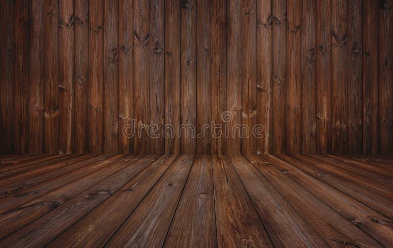 Fondo de madera oscuro de la textura, pared de madera y piso