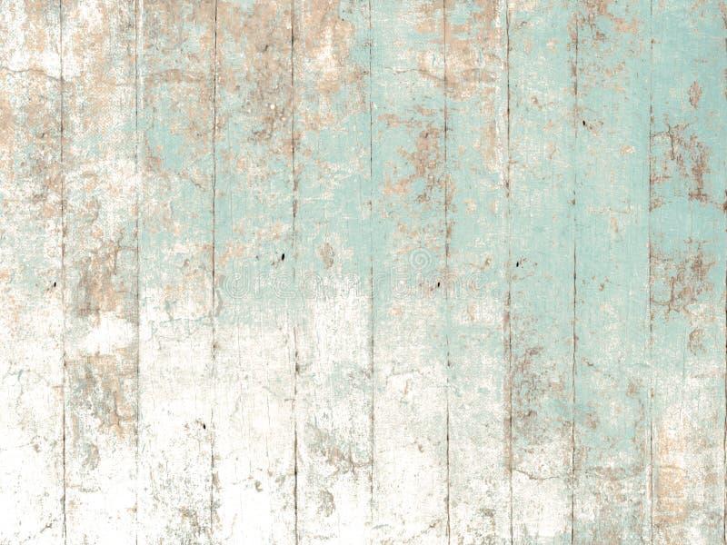 Fondo de madera pintado en verde en colores pastel suave stock de ilustración
