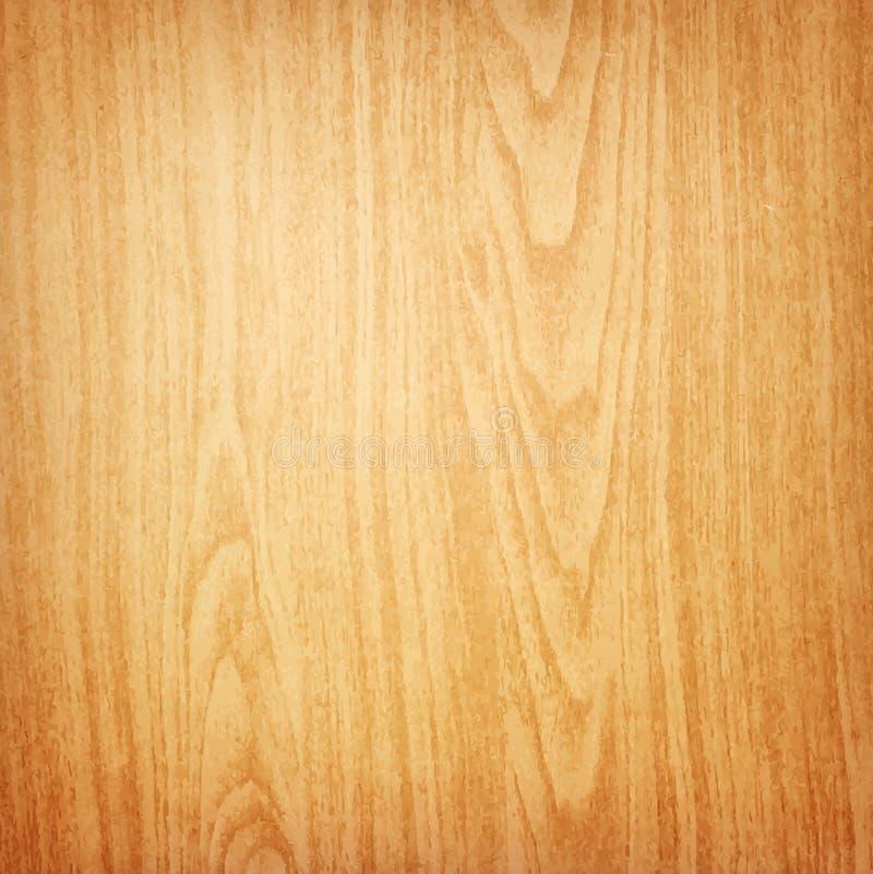 Fondo de madera realista de la textura ilustración del vector