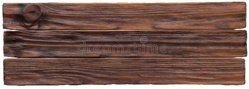 Fondo de madera resistido rústico con el grano y los nudos foto de archivo
