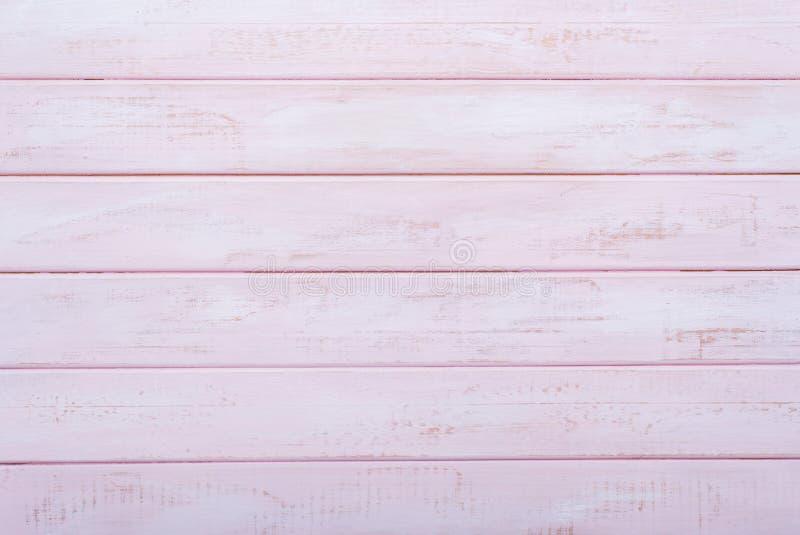 Fondo de madera rosado de la pared Endecha plana foto de archivo