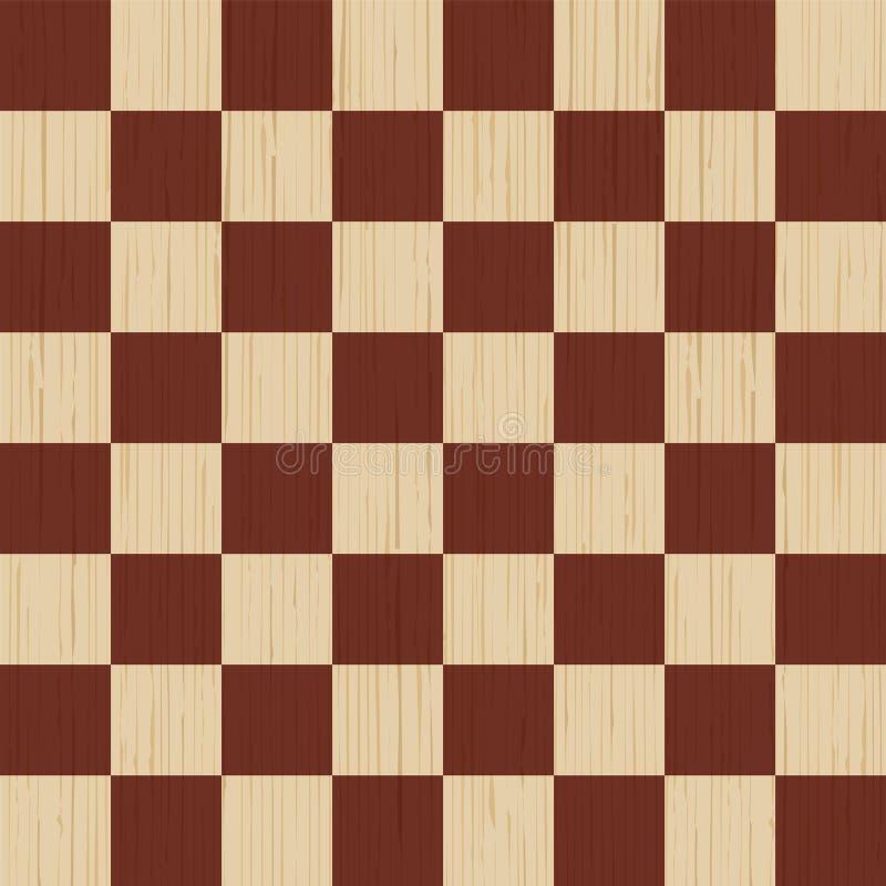 Fondo de madera Tarjeta de ajedrez Textura de madera, tablero del pino Ilustración stock de ilustración