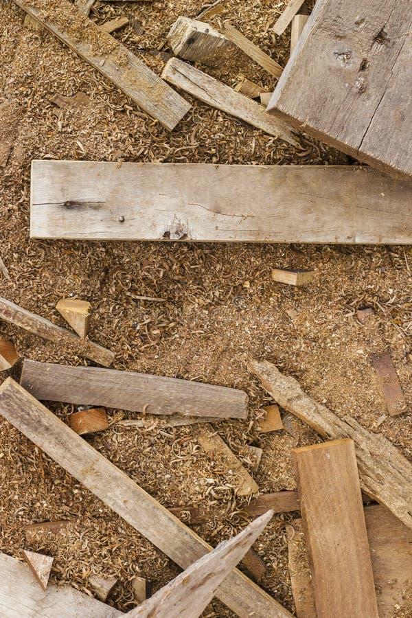Fondo de madera y del serrín de la textura imagen de archivo