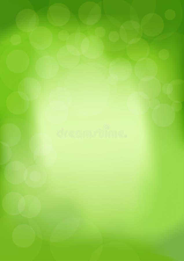 Fondo de moda moderno de la primavera con el bokeh en color verde Ilustración abstracta stock de ilustración