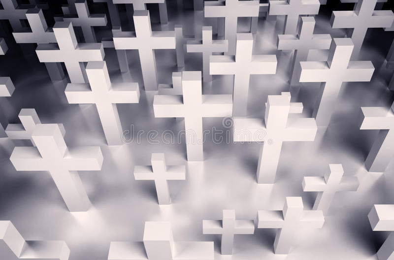 Fondo de muchas cruces libre illustration