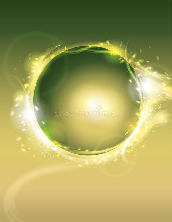 Fondo de neón del efecto luminoso del círculo que brilla intensamente libre illustration