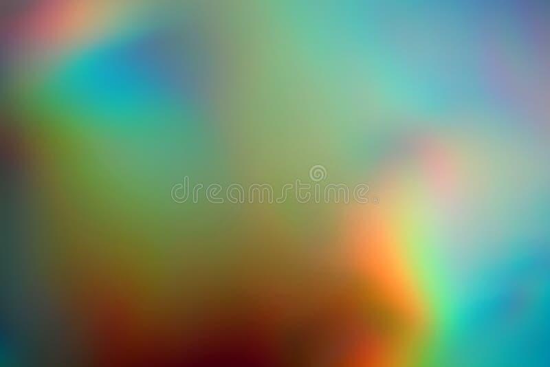 Fondo de neón olográfico iridiscente del extracto borroso fotos de archivo libres de regalías