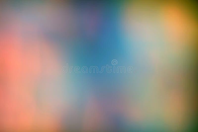 Fondo de neón olográfico iridiscente del extracto borroso fotos de archivo