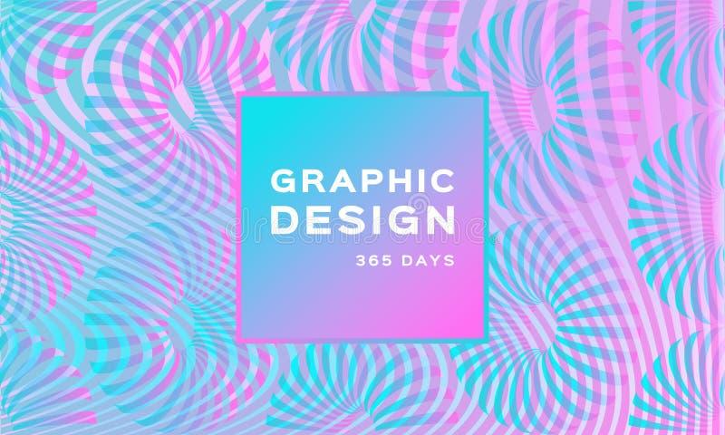 Fondo de neón olográfico de lujo Contexto suave iridiscente Fondo nacarado de moda Forma futurista geométrica stock de ilustración