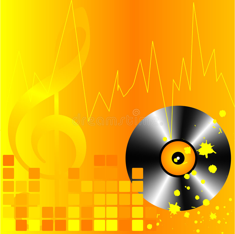 Fondo de nuevo DJ del stilysh.   stock de ilustración