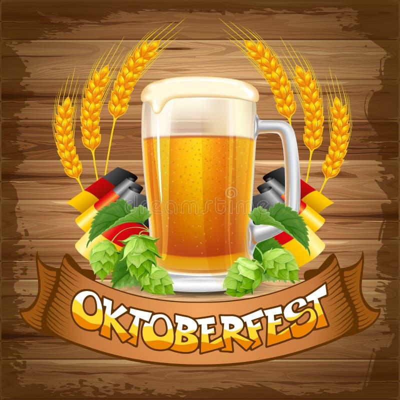 Fondo de Oktoberfest ilustración del vector