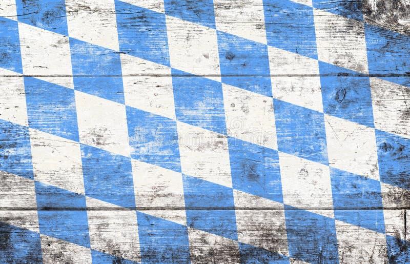Fondo de Oktoberfest con el modelo azul y blanco del Rhombus foto de archivo