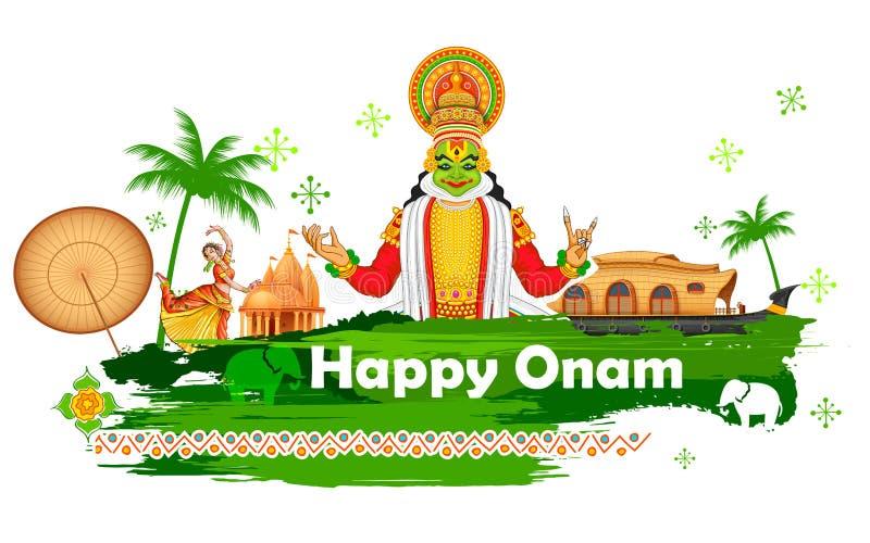 Fondo de Onam que muestra la cultura de Kerala libre illustration