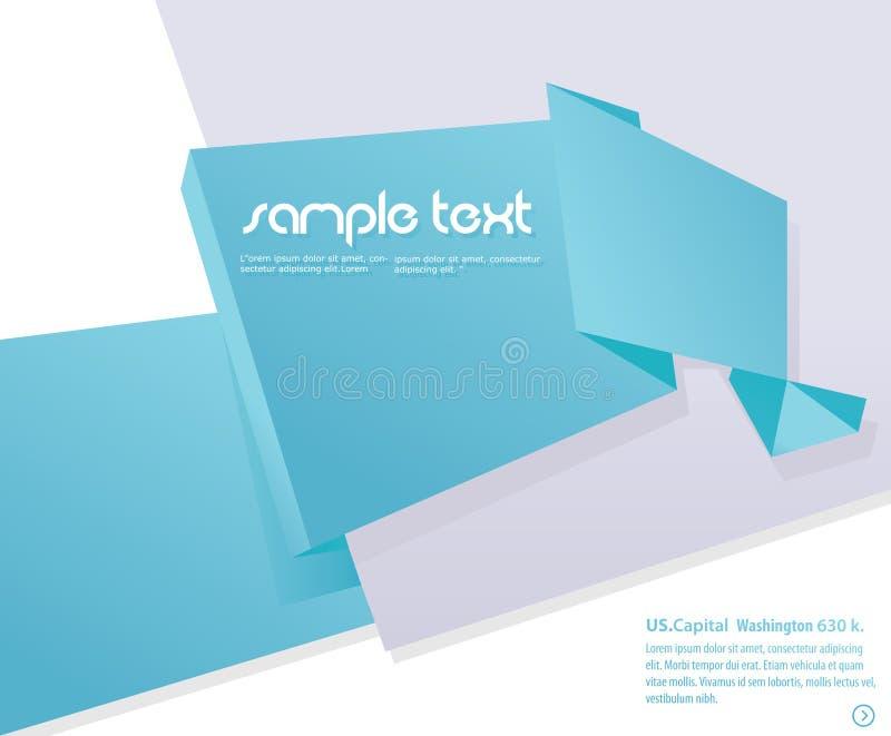 Fondo de Origami stock de ilustración