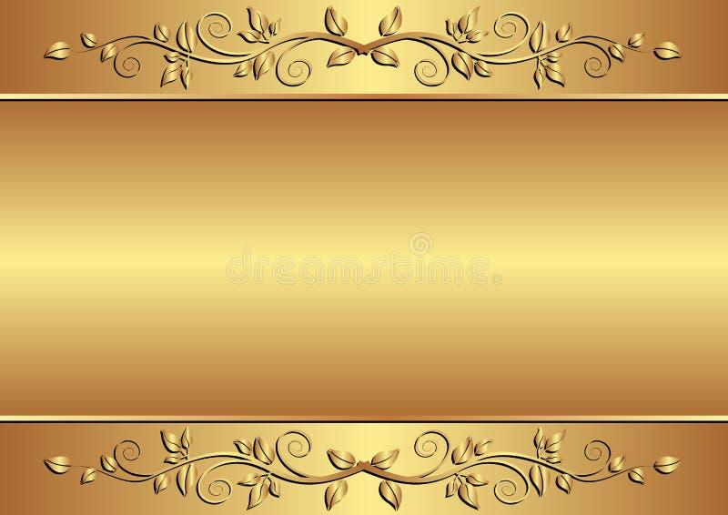 Fondo De Oro Fotografía de archivo