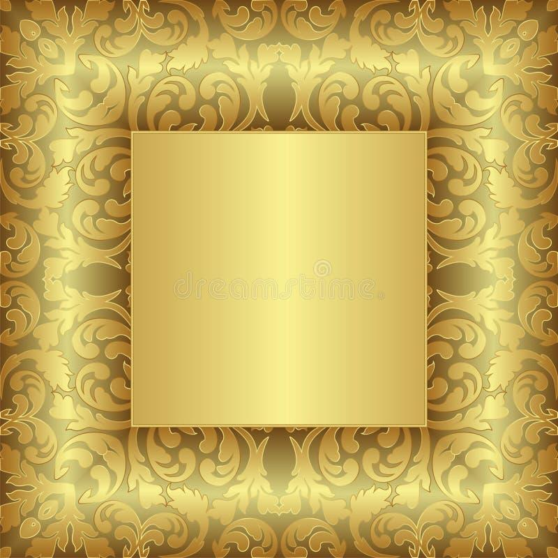 Fondo De Oro Imagen de archivo libre de regalías