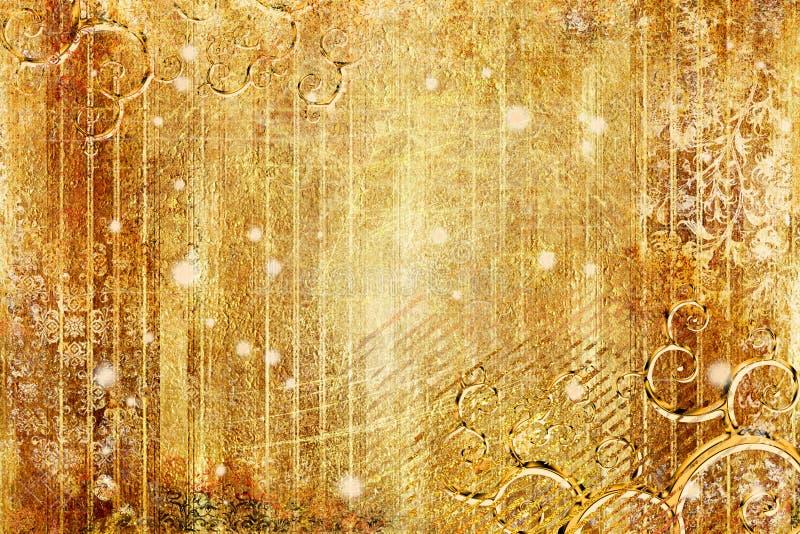 Fondo de oro stock de ilustración