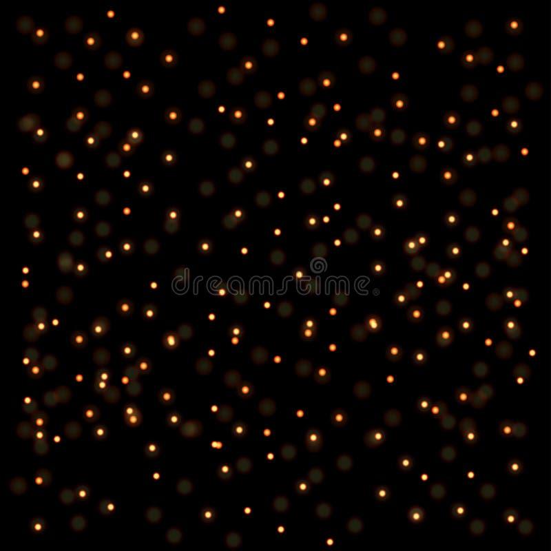 Fondo de oro abstracto de las luces libre illustration