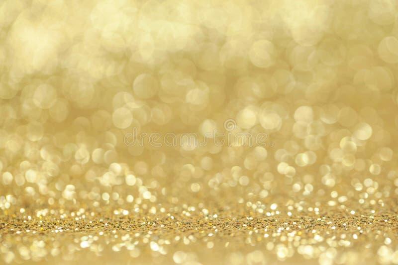 Fondo de oro abstracto del brillo fotografía de archivo