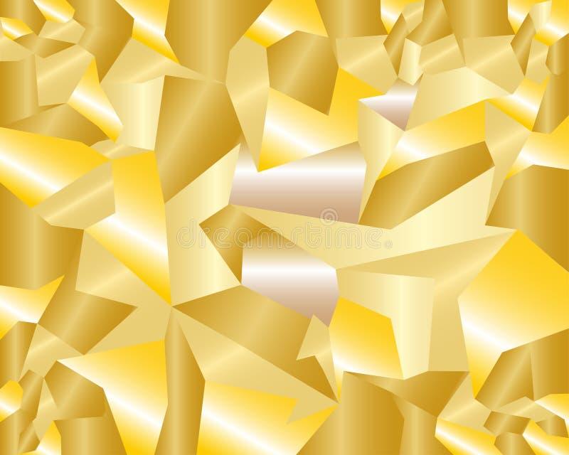 Fondo de oro brillante con las estructuras geométricas ilustración del vector