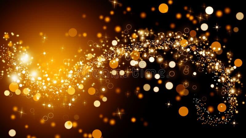 Fondo de oro chispeante Fondo con las estrellas de oro Ilustración libre illustration