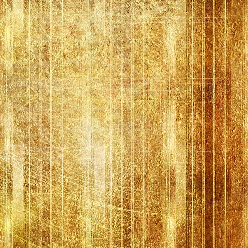 Fondo de oro de la vendimia stock de ilustración