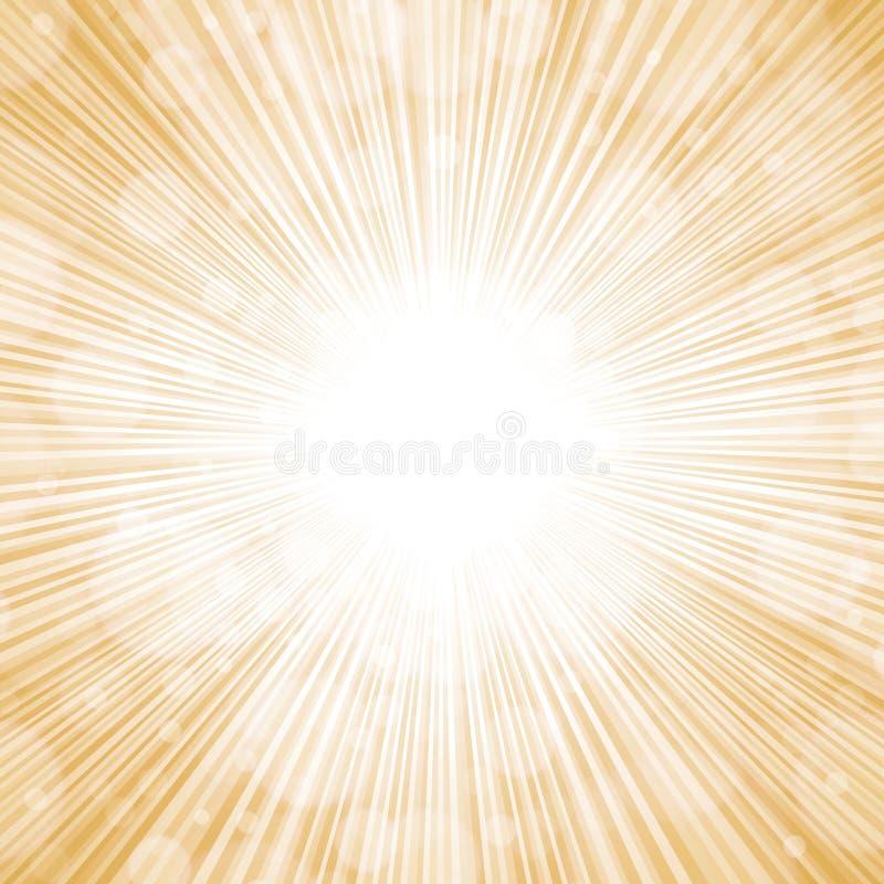 Fondo de oro de las luces ilustración del vector
