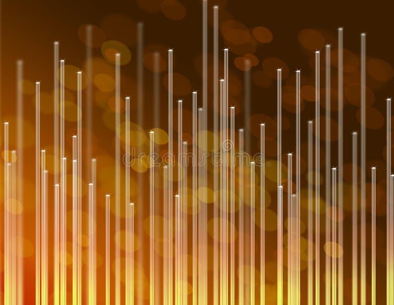 Fondo de oro de las telecomunicaciones. ilustración del vector
