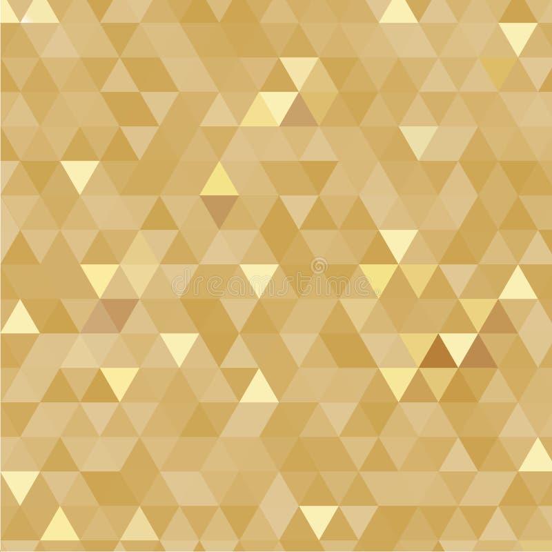 Fondo de oro de los triángulos fotos de archivo libres de regalías