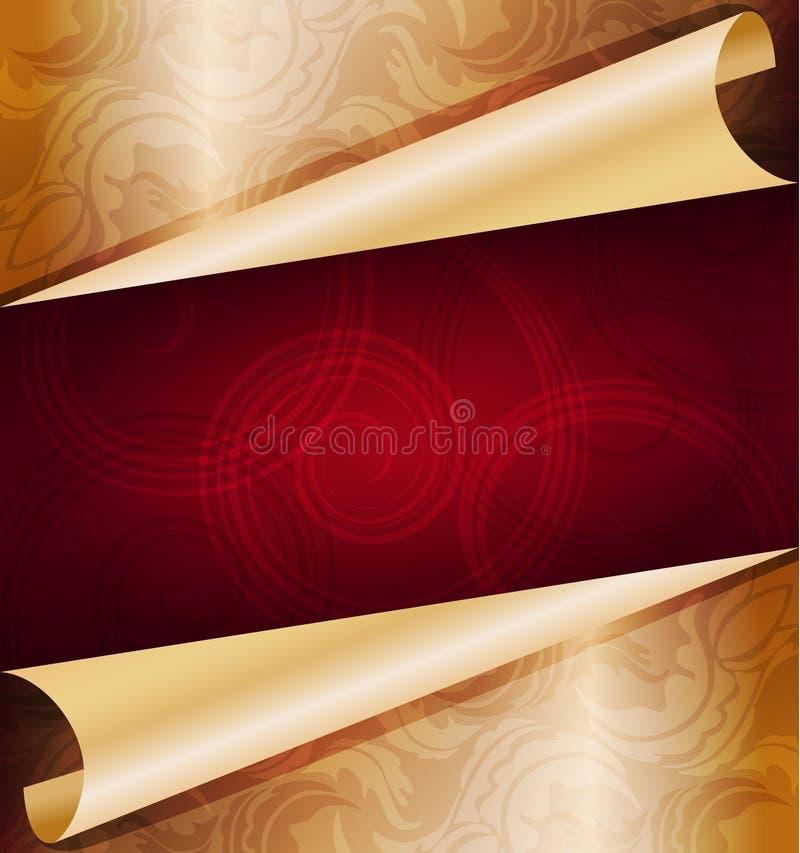 Fondo de oro decorativo ilustración del vector