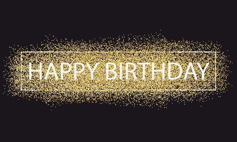 Fondo de oro del brillo del feliz cumpleaños libre illustration