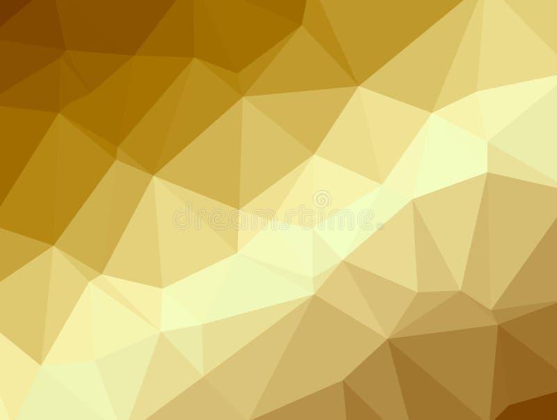Fondo de oro del polígono libre illustration