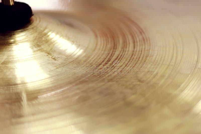 Fondo de oro del sombrero del disco imagen de archivo