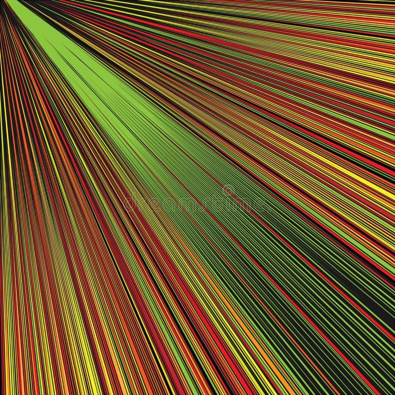Fondo de oro diagonal abstracto de los rayos libre illustration