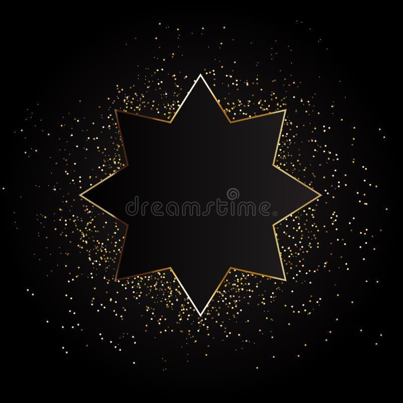 Fondo de oro de la estrella del vector Fondo de oro, fondo de oro de la estrella ilustración del vector