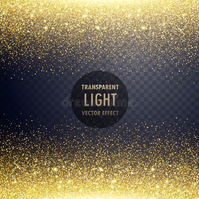 fondo de oro transparente del efecto luminoso del brillo libre illustration