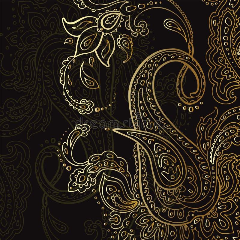 fondo de Paisley Ornamento drenado mano libre illustration