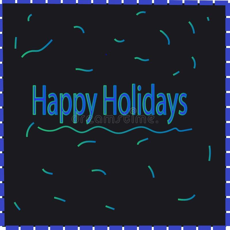 Fondo de pantalla de Happy Holidays stock de ilustración