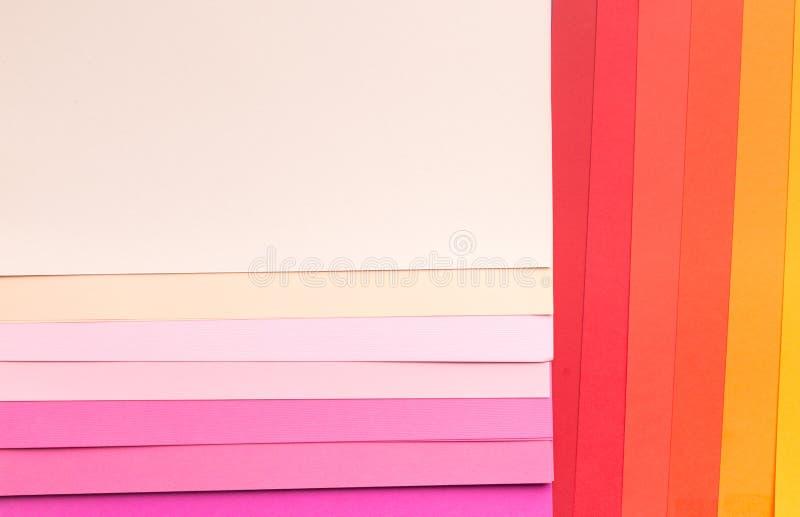 Fondo de papel abstracto inusual con todas las sombras del rosa fotografía de archivo libre de regalías