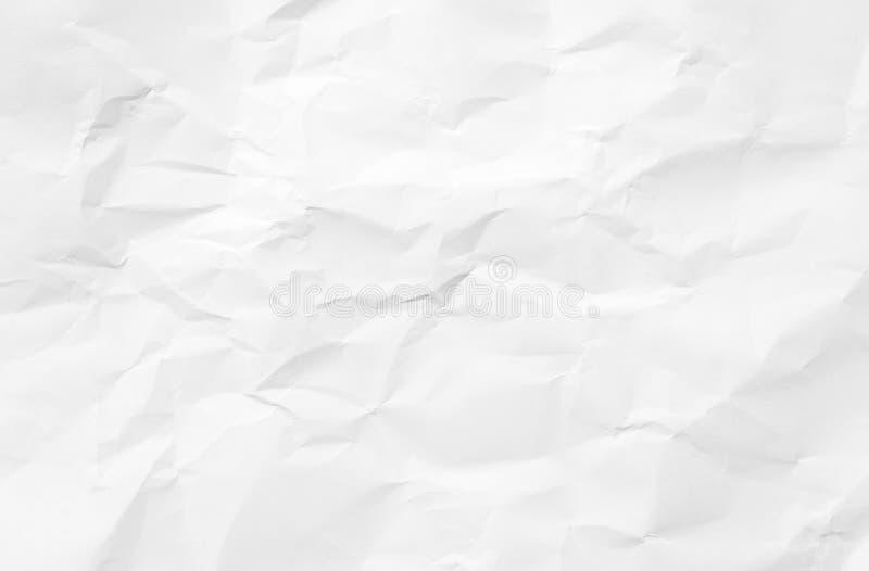 Fondo de papel arrugado del piso de la textura opinión superior arrugada de la pintura en colores pastel blanca de la cubierta de fotos de archivo