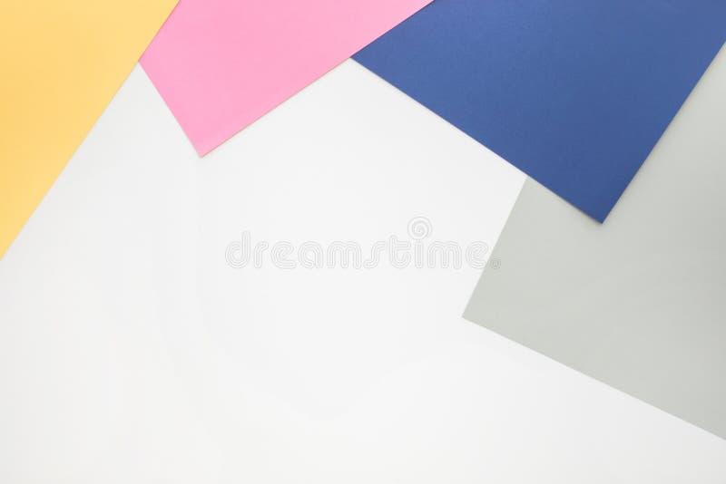 Fondo de papel del color en colores pastel Para la disposición visual dominante fotografía de archivo