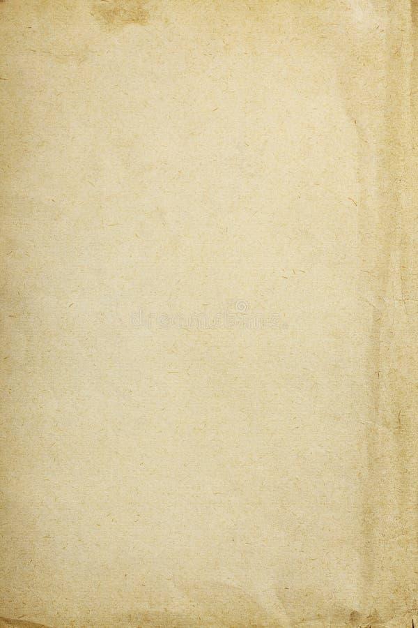 Fondo de papel del vintage con la parte arrugada foto de archivo
