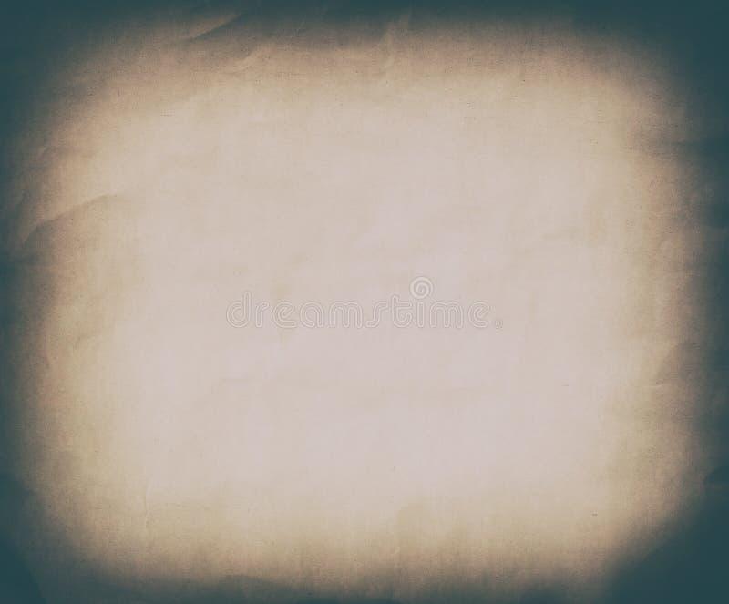 Fondo de papel del vintage del Grunge de la sepia del oro viejo foto de archivo libre de regalías