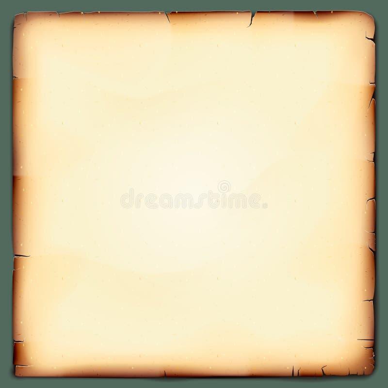 Fondo de papel del vintage del Grunge viejo stock de ilustración