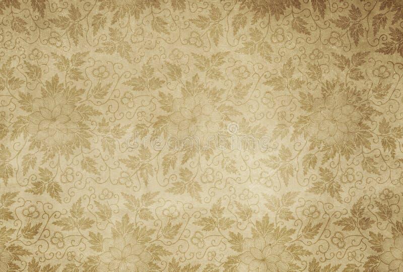 Fondo de papel floral del vintage ilustración del vector