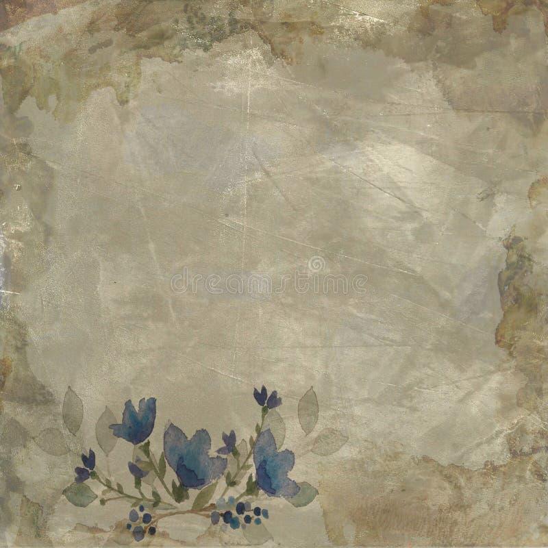 Fondo de papel floral del vintage fotografía de archivo