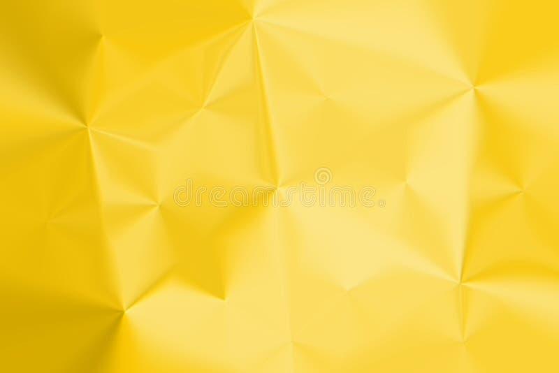 Fondo de papel machacado amarillo brillante stock de ilustración