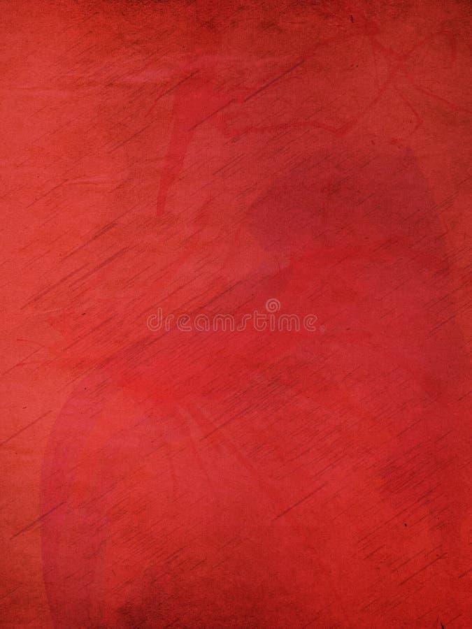 Fondo de papel rojo del Grunge stock de ilustración